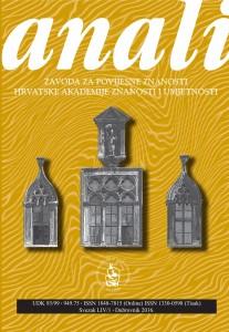 Korica Hazu Anali 2016 knjiga I