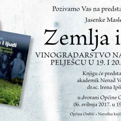 Presentation of the book Land and People: Wine-Growing of the Pelješac Peninsula in the Nineteenth and Twentieth Centuries