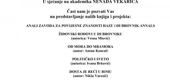 Predstavljanje knjiga Zavoda za povijesne znanosti HAZU u Dubrovniku